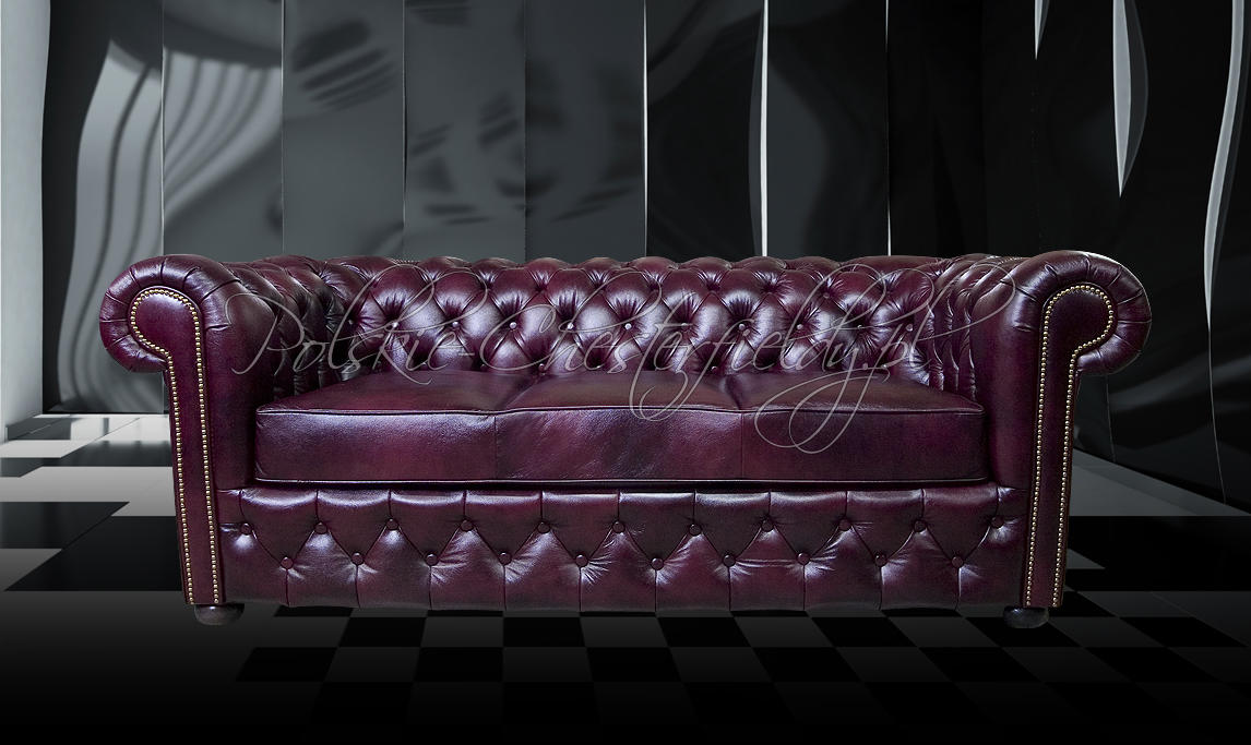 Sofa chesterfield March skóra naturalna